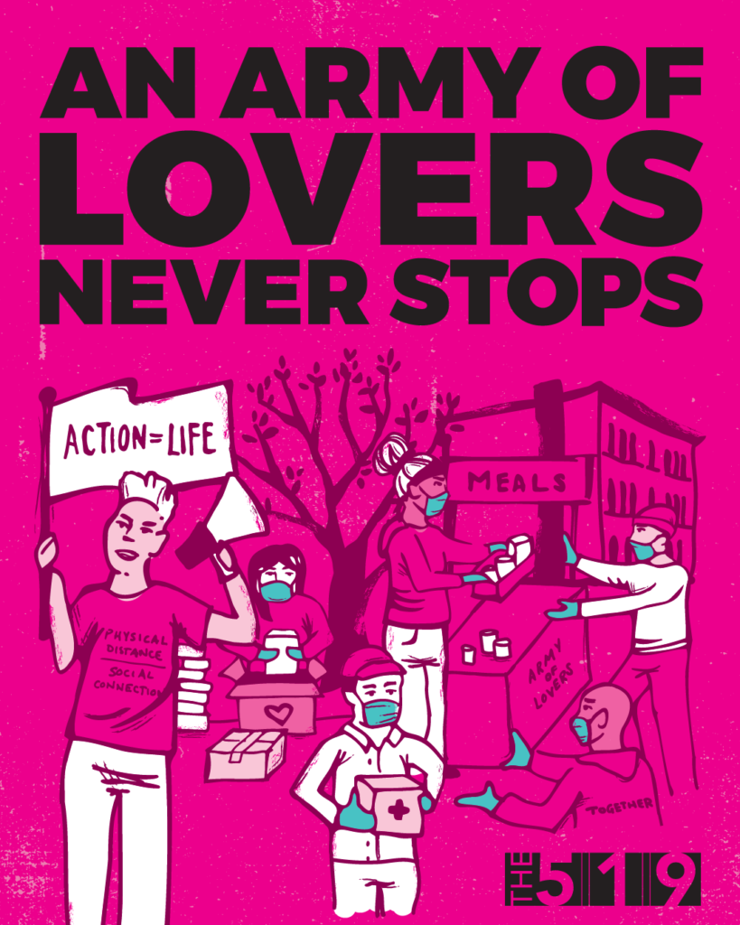 An Army of lovers never stops poster