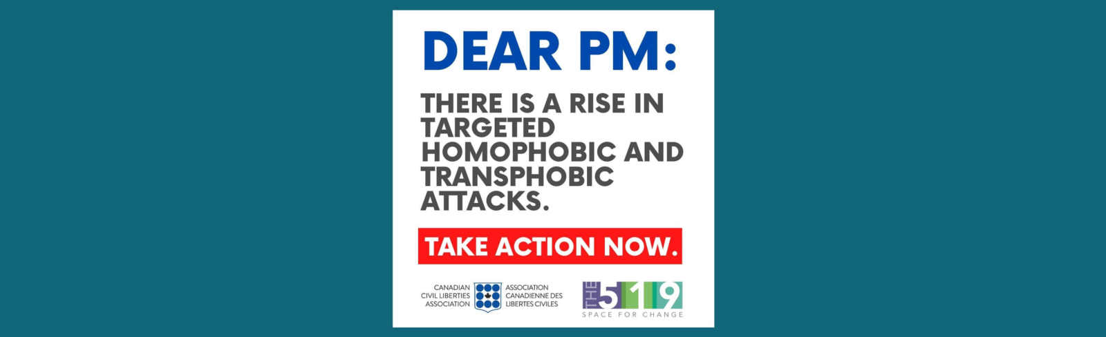 CCLA and The 519 – Letters to the PM: Alarming Increase of LGBTQ2S Abuse During Pandemic
